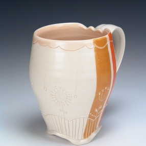 Flowers and Stripes Mug 1