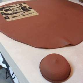 Making the lid with a custom hump mold.