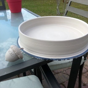 "12"" platter with second prototype."