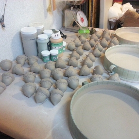 Done! Other acorns in the kiln.