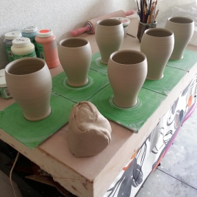 Tumbler production.