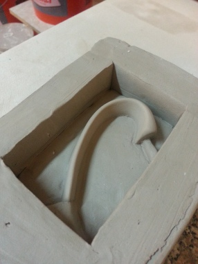 Making the handle mold.