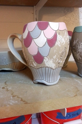 Some fish scales with new colors (pink, raspberry, and gray).