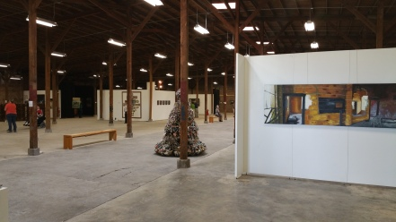 Inside the R.O.B. 22,000 sq ft of art ladies and gentleman.
