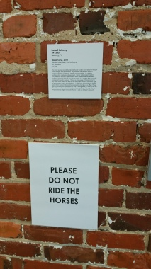 Russell's sign. Apparently adults were the ones trying to ride the horses, not the kids.
