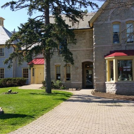 Front lawn of Clayworks' gallery and administrative building