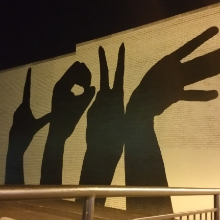 Cool street art we found walking home from dinner.