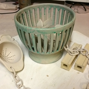 Caged Bunny with Tea Strainer